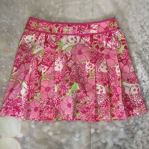 Lilly Pulitzer Chesterfield  Pleated Skort Skirt 4